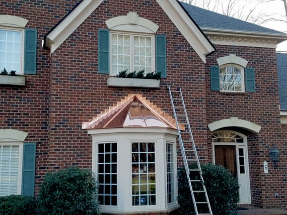 Copper Flashing on Bay Window