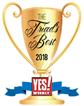 The Triad's Best Roofing Companies, awarded by YES! Weekly
