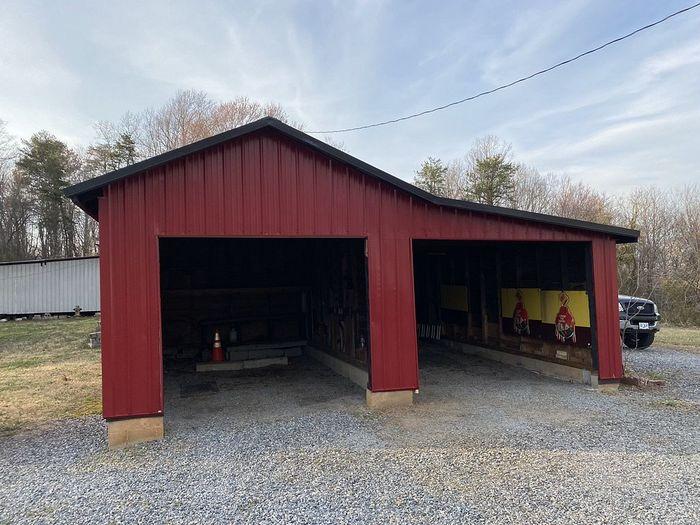 29 Gauge Red Panels Siding Install Madison, NC